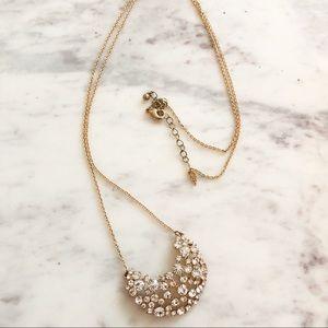 Jewelry - Rhinestone Pendant Long Necklace